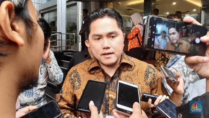 Erick Sampaikan 3 Nama Calon Dirut Inalum ke Jokowi