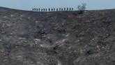 Mereka juga menyatakan ada kemungkinan kebakaran di Kabupaten Sonoma akibat kerusakan jaringan listrik mereka. (AP Photo/Gregory Bull)