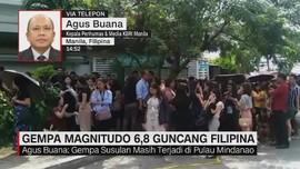 VIDEO: Gempa Magnitudo 6,8 Guncang Filipina