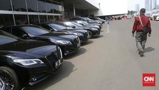 Setneg Serahkan Mobil Dinas Menteri Jokowi November