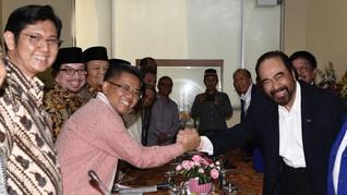 Ketua NasDem Surya Paloh Disambut Presiden PKS Sohibul