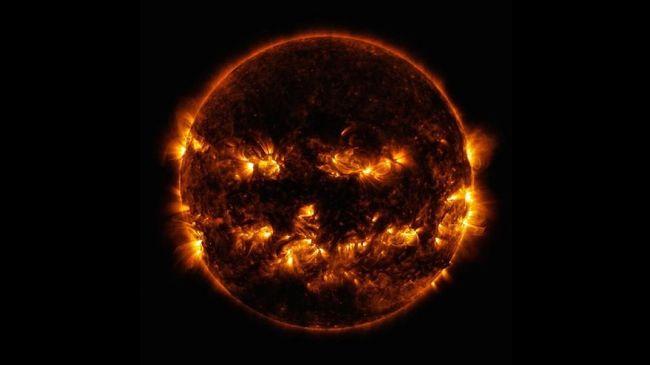 Jelang Halloween, NASA Bagikan Foto Matahari Menyeramkan