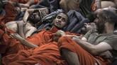 Kondisi sel penjara untuk para milisi ISIS itu sangat mengenaskan. Mereka berdesakan di satu ruangan tanpa pengatur suhu. (FADEL SENNA/AFP)