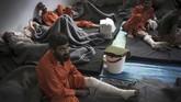 Beberapamilisi ISIS yang ditahan di penjara Kurdi cedera akibat perang.(FADEL SENNA/AFP)