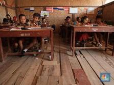 Miris! Penampakan Sekolah Bilik Warisan Belanda di Karawang