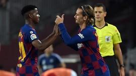 Fan Anggap Griezmann Diabaikan Messi dan Suarez