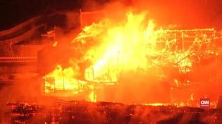 VIDEO: Api Bakar Kastil Warisan Budaya Dunia di Jepang