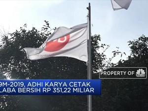 Laba Bersih Adhi Karya Tumbuh 4,68% Pada 9M-2019