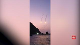 VIDEO: Helikopter Jatuh di Korsel, Tujuh Orang Hilang