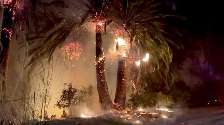 Petugas pemadam kebakaran di California telah memadamkan banyak kebakaran tanpa henti, berusaha menyelamatkan jutaan orang dan rumah dari api.
