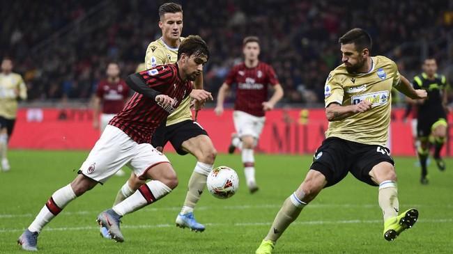 Dalam dua pertandingan sebelumnya, AC Milan dan SPAL, sama-sama gagal meraih kemenangan. (Photo by MIGUEL MEDINA / AFP)