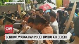 VIDEO: Bentrok Warga dan Polisi Tuntut Air Bersih