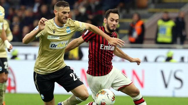 Hingga pekan ke-10, Milan baru meraih 13 poin hasil dari empat kemenangan dan satu hasil seri. Milan kini menempati peringkat ke-10 di klasemen. Sementara SPAL masih menghuni peringkat ke-19. (Matteo Bazzi/ANSA via AP)