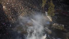FOTO: Demo di Chile Kembali Memanas