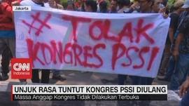 VIDEO: Unjuk Rasa Tuntut Kongres PSSI diulang