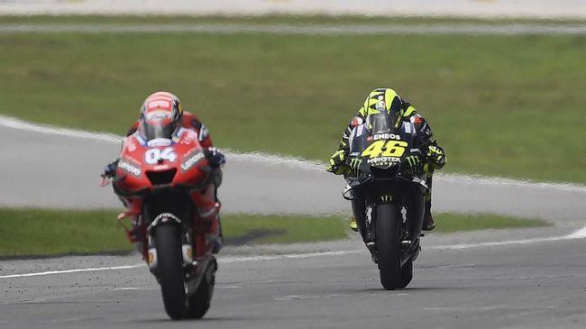 Rossi: Saya dan Dovizioso Terlalu Sportif di MotoGP