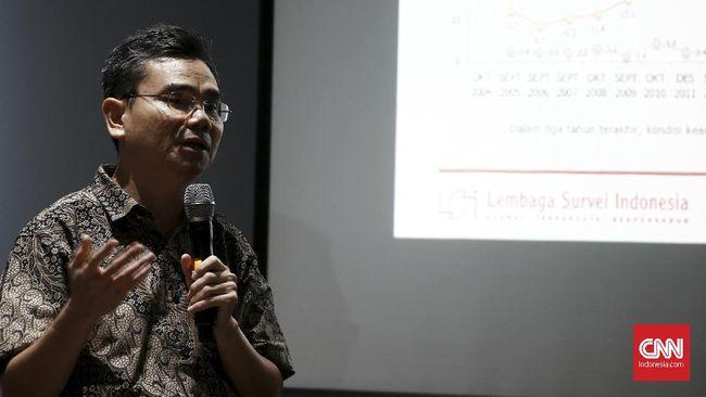 LSI Sebut Ketakutan Publik Berekspresi Naik di Era Jokowi