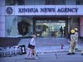 Demo Hong Kong, Kantor Berita Xinhua Dirusak