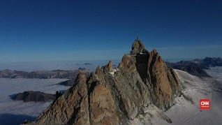VIDEO:  Lapisan Es di Mont Blanc Mencair