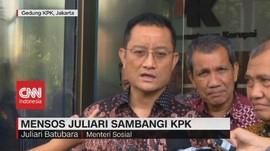 VIDEO: Mensos Juliari Batubara Sambangi KPK