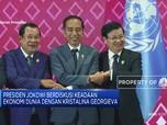 Presiden Jokowi Diskusi dengan Managing Director IMF di KTT