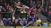 Leicester City mengalahkan Crystal Palace 2-0. (John Walton/PA via AP)