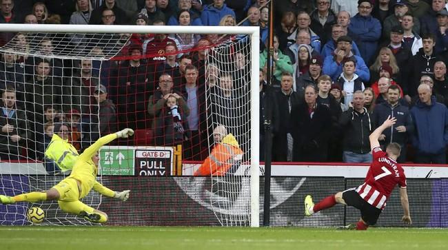 Tuan rumah Sheffield United menang telak 3-0 atas Burnley. (Danny Lawson/PA via AP)