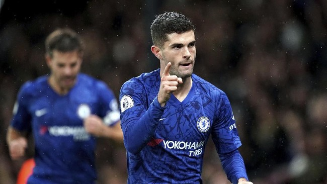 Chelsea menaklukkan tuan rumah Watford 2-1 berkat gol Tammy Abraham dan Christian Pulisic. (John Walton/PA via AP)