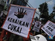 Penampakan Ratusan Petani Tembakau Geruduk Kantor Sri Mulyani