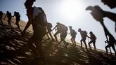 Rose Trip Morocco telah memasuki tahun kedua penyelenggaraan. Tahun ini digelar pada 4 November silam. (AFP/Jean-Philippe Ksiazek)