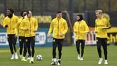 Borussia Dortmund saat ini menempati peringkat ketiga di klasemen Grup F. Kemenangan atas Inter bisa membuat mereka menduduki posisi runner up menggeser wakil Italia tersebut.(AP Photo/Martin Meissner)