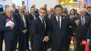 VIDEO: Macron Minta Xi Jinping Buka Pintu Ekonomi China