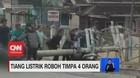 VIDEO: Tiang Listrik Roboh Timpa 4 Orang