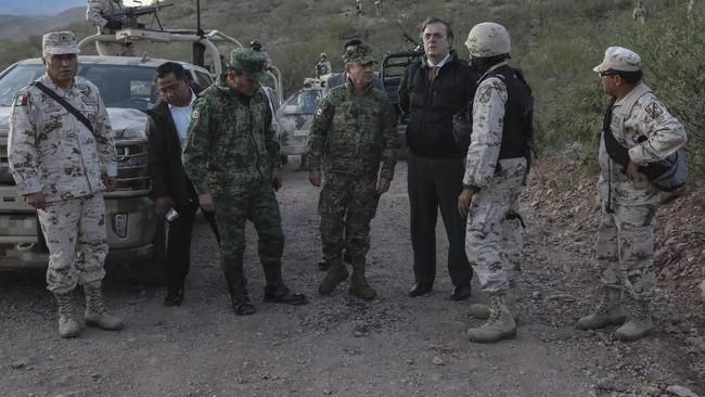 Presiden Amerika Serikat Donald Trump mendesak Meksiko memerangi kartel-kartel narkoba yang diyakini menyerang kelompok Mormon. (Photo by Herika MARTINEZ / AFP)