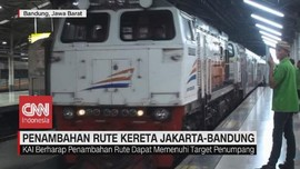 VIDEO: Penambahan Rute Kereta Jakarta-Bandung