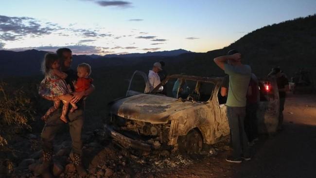 Seluruh korban tewas adalah warga AS yang tinggal di Sonora dan sebagian adalah kerabat keluarga LeBaron yang bermukim di Chihuahua. (Photo by Herika MARTINEZ / AFP)