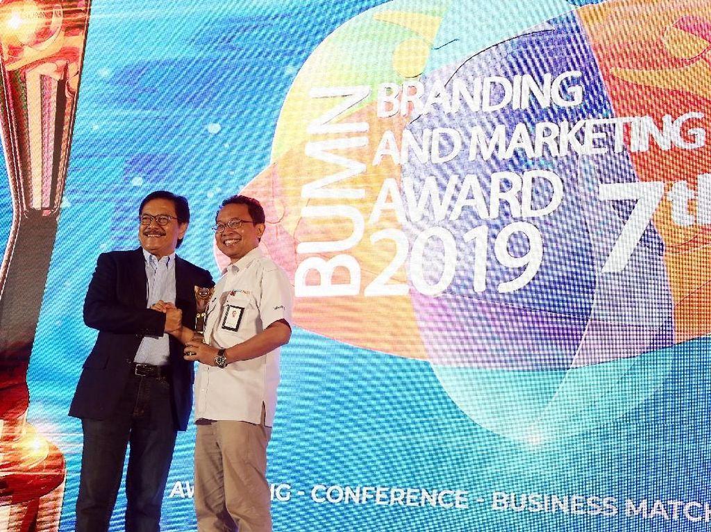 Penghargaan dalam ajang BUMN Branding & Marketing Award 2019, dihelat di Jakarta.