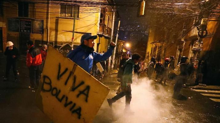 Demonstrasi kembali terjadi di La Paz, Bolivia dan berlangsung ricuh.