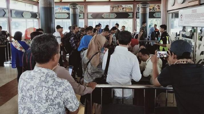 Penampakan Miris Penumpang Sriwajaya Terbengkalai di Soetta