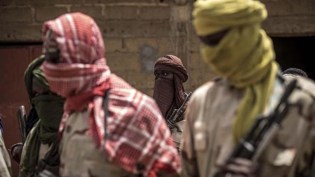 Mopti, kota berpenduduk 150 ribu jiwa di Mali kini tampak mencekam setelah adanya gelombang pemberontakan.(Photo by Marco LONGARI / AFP)