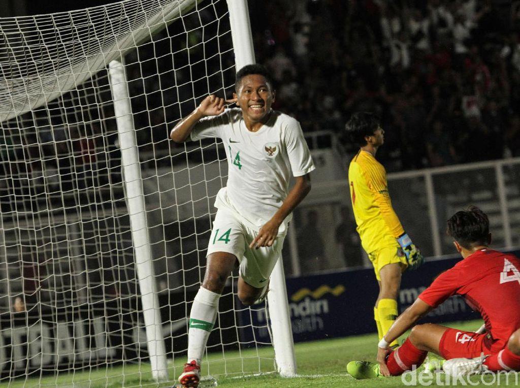 Di babak kedua, Indonesia menambah dua gol via David Maulana dan Amuruddin Bagus Kahfi Alfikri.