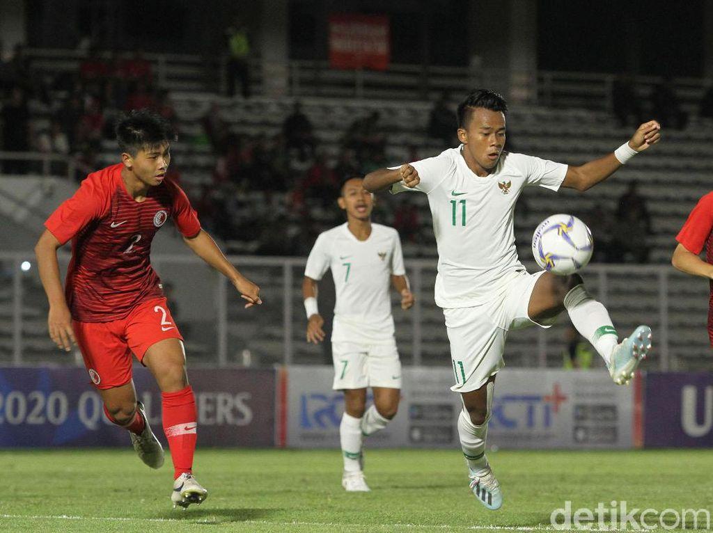 Gol pertama Indonesia dibukukan oleh Bagas Kaffa pada menit ke-24. Dia meneruskan umpan David Maulana. Fajar Fathur Rachman menggandakan keunggulan Indonesia pada menit ke-30, umpan Mochammad Supriadi yang menjadi awalnya.
