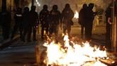 Ketegangan terus berlangsung sejak pemilihan presiden memenangkan Morales atas rivalnya Carlos Mesa.(AP Photo/Juan Karita)