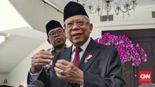 Ma'ruf Amin Serahkan Evaluasi Pilkada Langsung ke DPR