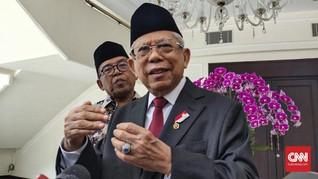 Ma'ruf Amin Ingin Pangsa Pasar Syariah RI Lampaui Malaysia
