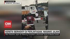 VIDEO: Kereta Berhenti di Perlintasan, Masinis Beli Jajan