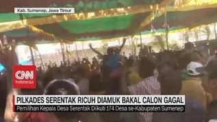 VIDEO: Pilkades Sumenep Ricuh, TPS Dirusak Massa