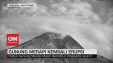 VIDEO: Kembali Erupsi, Gunung Merapi Keluarkan Hujan Abu