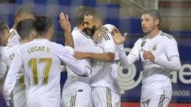 Hasil Liga Spanyol: Hajar Eibar, Madrid Kuasai Posisi Puncak