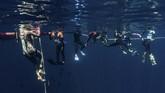 Perairan Pulau Weh memiliki sebanyak 14 titik atau spot menarik untuk wisatawan yang hobi menyelam. (Victor YUSLIH / SIFC2019 / AFP)